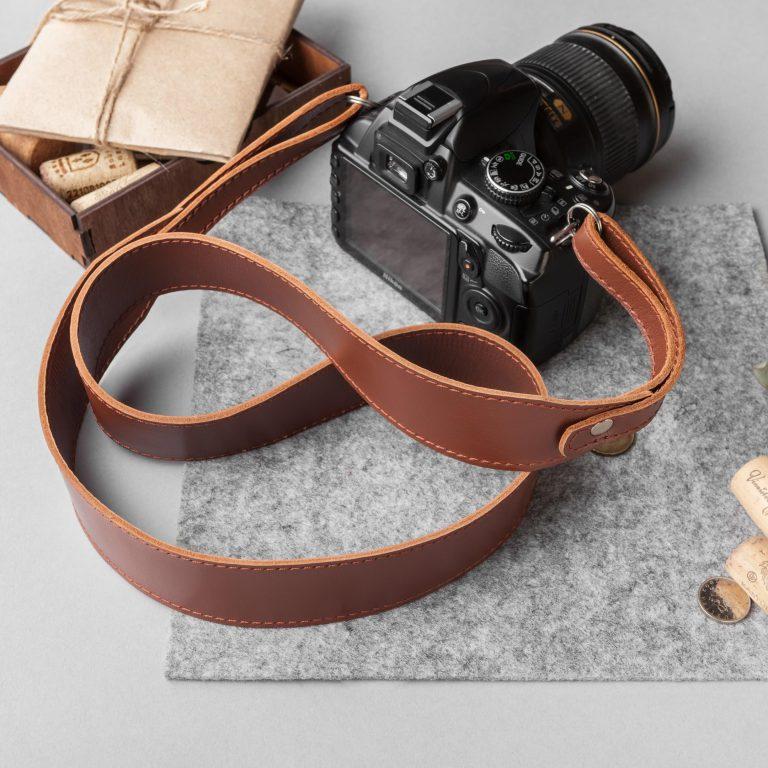 Ремень для фотоаппарата, подарок фотографу, кожаный ремень для фотоаппарата