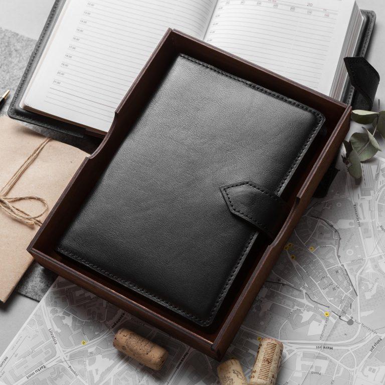 Кожаный ежедневник, кожаный блокнот, Подарок руководителю, Органайзер из кожи