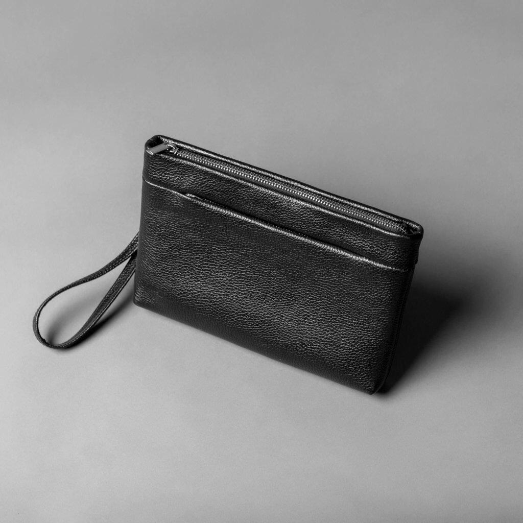 Кожаный клатч // BROOKLYN // Black Flotar