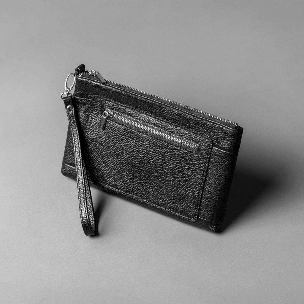 Кожаный клатч // SCOUT // Black Flotar