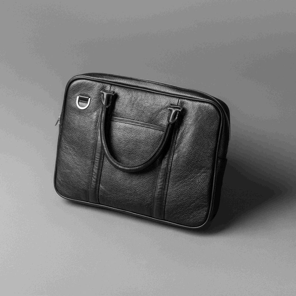 Кожаный портфель // RUF // Black Flotar